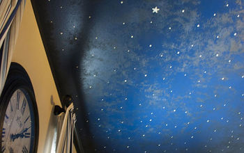 DIY Faux Midnight Painted Ceiling