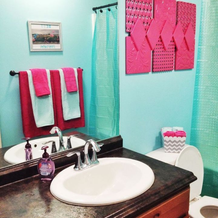 Hot Pink And Turquoise S Bathroom Ideas Painting Small