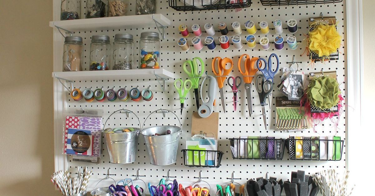Craft Organization Small Spaces