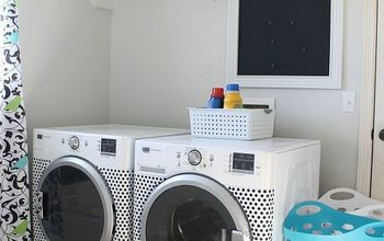 polka dot washer dryer, appliances, crafts, laundry rooms, painting