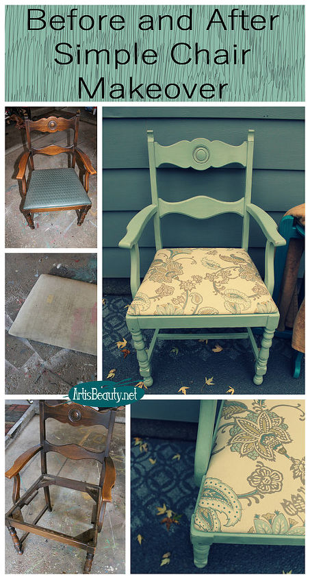 simple chair makeover themed furniture makeover day, painted furniture, reupholster