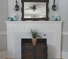 painting and stenciling on a granite fireplace, fireplaces mantels, how to, painting
