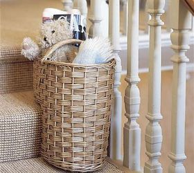 Diy Stair Basket Campbellandkellarteam