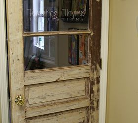 using the unexpected to add a little interest to our laundry room doors laundry & Laundry Room Vintage Door | Hometalk