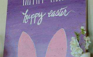 diy bunny sign, crafts, easter decorations, seasonal holiday decor