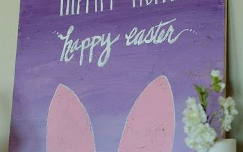 diy bunny sign, crafts, easter decorations, seasonal holiday decor
