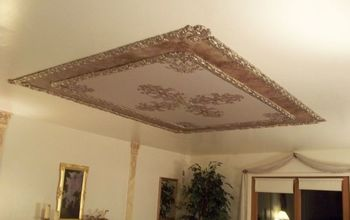 Creative a Massively Beautiful Ceiling With Paint, Plaster & Stencils