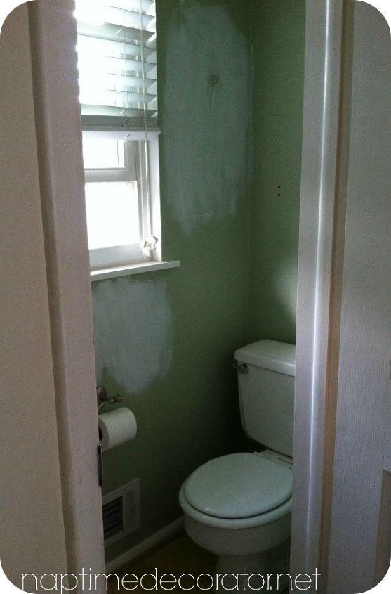 small bathroom color ideas wall budget powder room makeover hometalk