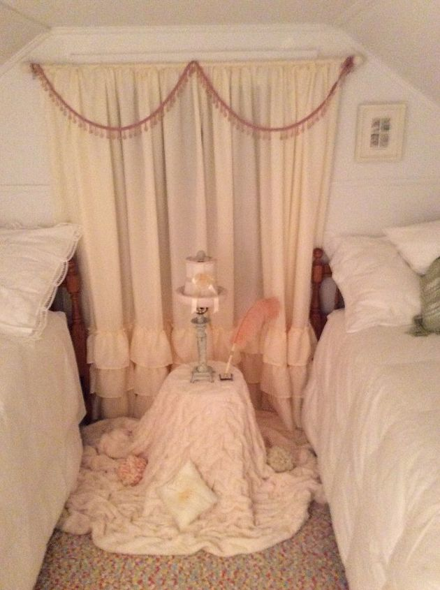 q one dead spot in attic filled with a pram but not what i want, bedroom ideas, shabby chic, Bedroom