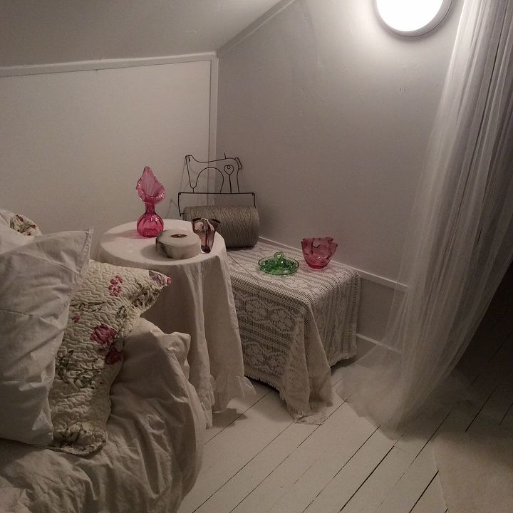 q one dead spot in attic filled with a pram but not what i want, bedroom ideas, shabby chic