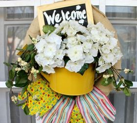 Awesome Welcome Garden Wreath, Container Gardening, Crafts, How To, Repurposing  Upcycling, Wreaths