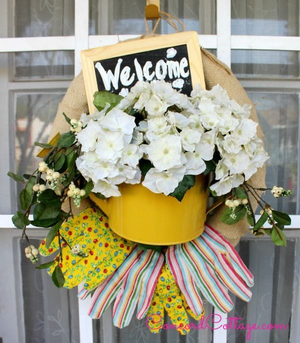 welcome garden wreath, container gardening, crafts, how to, repurposing upcycling, wreaths