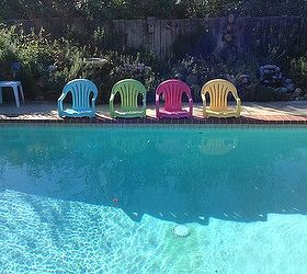 Great Pool Chairs, Outdoor Furniture, Outdoor Living, Painted Furniture,  Repurposing Upcycling