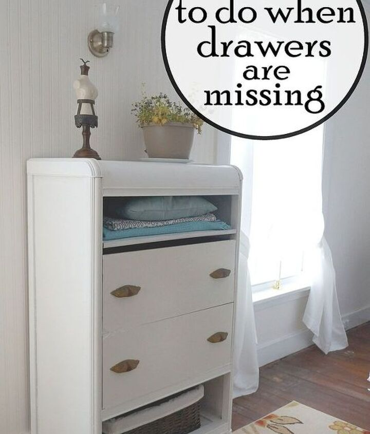 when a drawer is missing or defunct, chalk paint, painted furniture