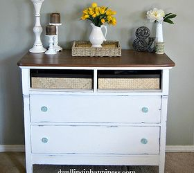 rustic charmer from dresser to entryway table foyer painted furniture repurposing upcycling