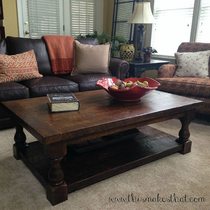 DIY Pottery Barn Inspired Cortona Coffee Table Hometalk - Pottery barn couch table