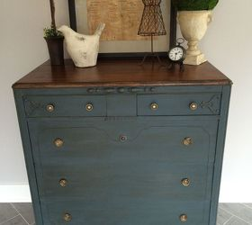 Stained Top Dresser, Chalk Paint, How To, Painted Furniture