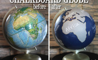 a chalkboard globe using clear chalkboard paint, chalkboard paint, crafts, how to
