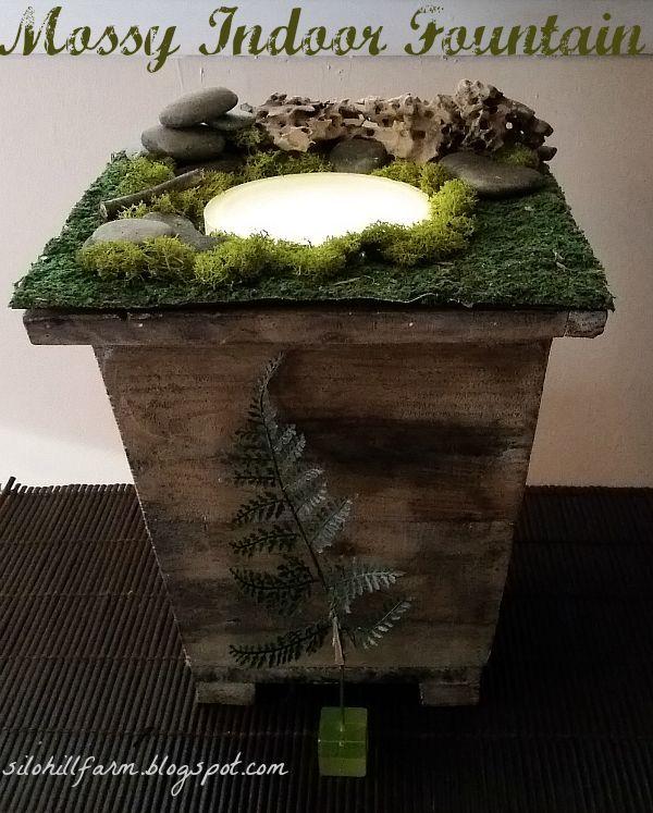Mossy Indoor Fountain | Hometalk