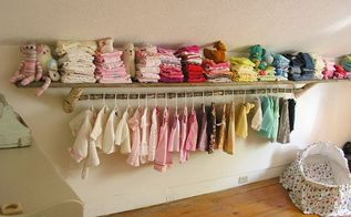 rustic nursery shelf clothing rail, bedroom ideas, repurposing upcycling, shelving ideas, woodworking projects