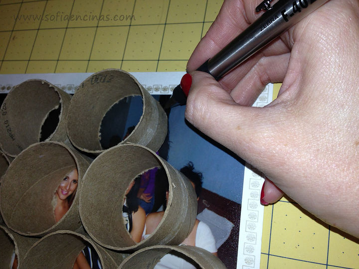 new idea for homemade photo frames made out of paper towel tubes, crafts, decoupage, how to, repurposing upcycling