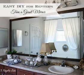 Diy Tutorial Add Trim Around A Giant Mirror Great Idea For Renters, Bathroom  Ideas,