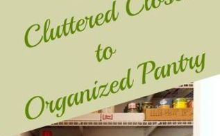 create an organized pantry out of a coat closet, closet, kitchen design, organizing, repurposing upcycling, shelving ideas, storage ideas