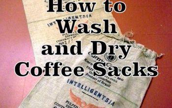 Tips for Washing and Drying Coffee Sacks