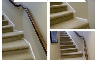 the power of paint and stain updating our back staircase, doors, painting, stairs
