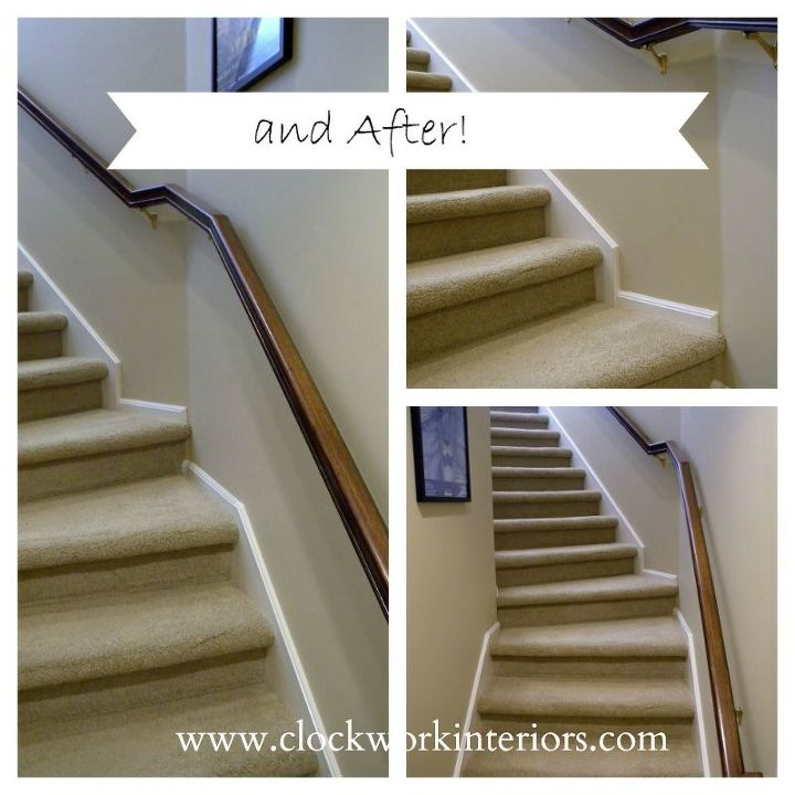 Painting And Staining: Updating Back Staircase