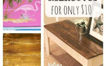 A Painted Bench Makeover for $10