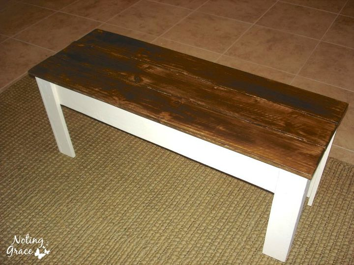 a painted bench makeover for 10, painted furniture