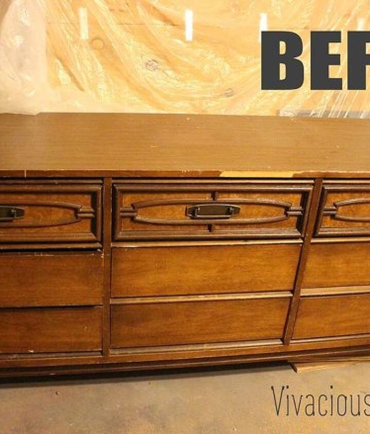 gorgeous 2 tone mid century modern dresser, painted furniture, repurposing upcycling
