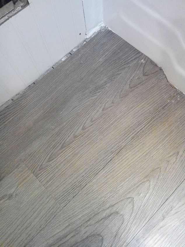 Barn wood look tile for new floor.