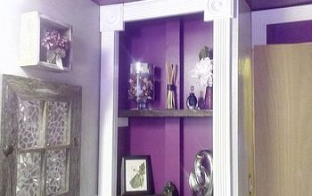 56 year old grandma says bye bye to her 1957 pink bathroom, bathroom ideas, home improvement, small bathroom ideas, Love these new inset shelves