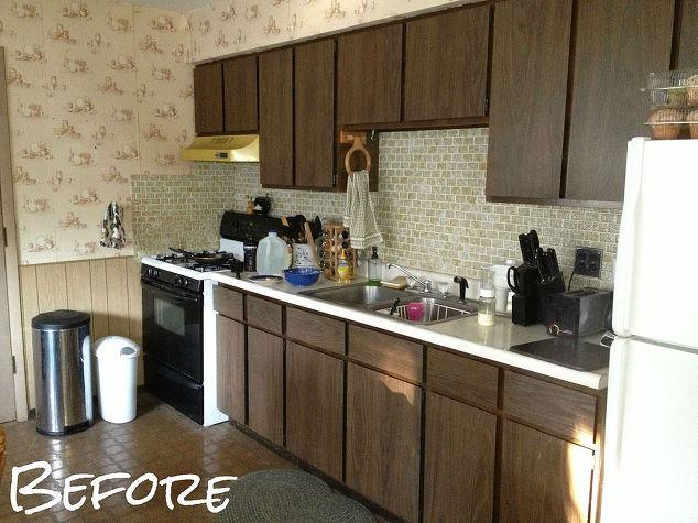 kitchen update for 500, countertops, home improvement, kitchen cabinets,  kitchen design,