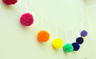 how to mark a yarn pom pom, crafts, how to, repurposing upcycling