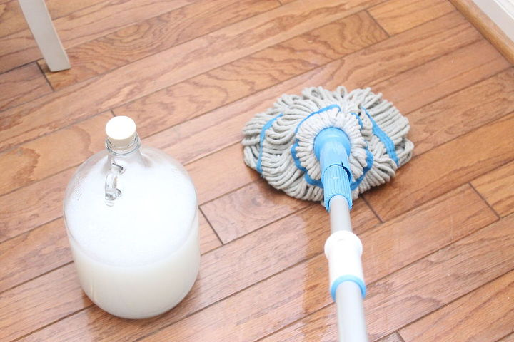 diy wood safe floor cleaner, cleaning tips, flooring, go green