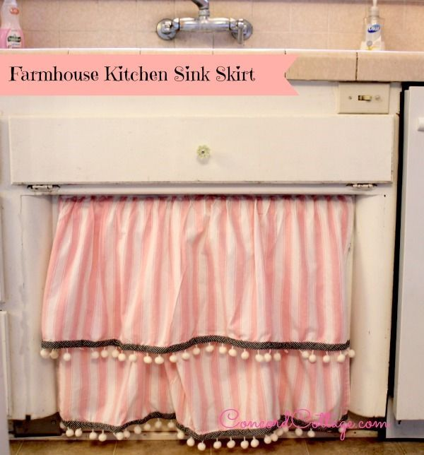Farmhouse Kitchen Sink Skirt Crafts How To Design Reupholster