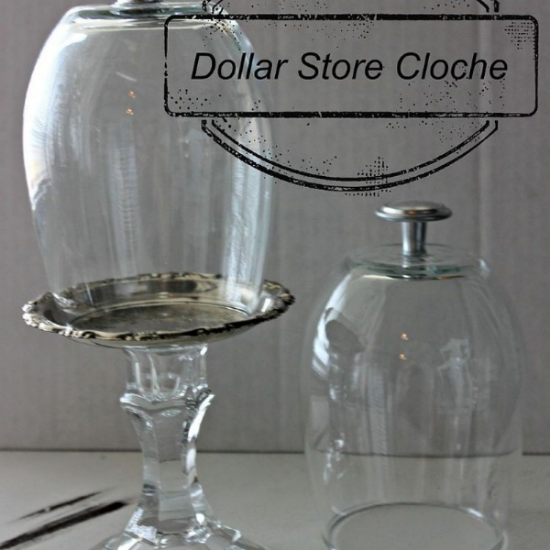 dollar store cloche, crafts, how to, repurposing upcycling