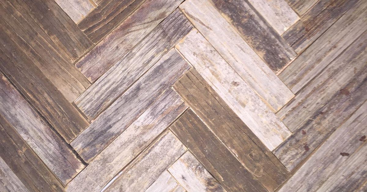 Reclaimed Wood Herringbone Backsplash For Bathroom Vanity Hometalk