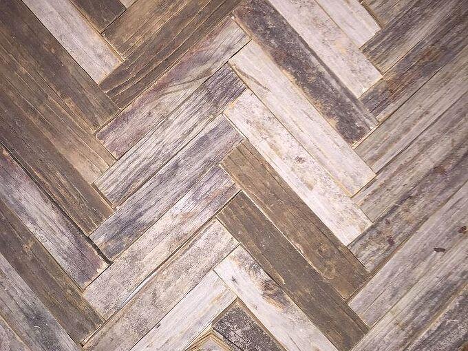reclaimed wood herringbone backsplash for bathroom vanity, bathroom ideas, wall decor, Mixed tone up cycled wooden backsplash