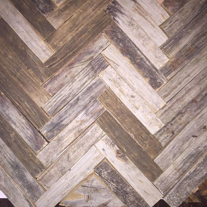 Reclaimed Wood Herringbone Backsplash For Bathroom Vanity Hometalk
