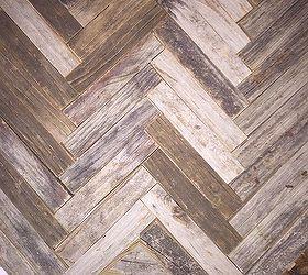 Wood Backsplash Ideas Part - 36: Reclaimed Wood Herringbone Backsplash For Bathroom Vanity, Bathroom Ideas,  Wall Decor, Mixed Tone