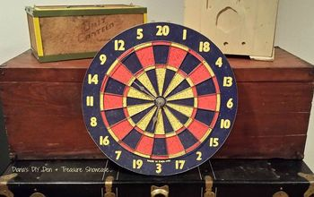 repurposed dart board clock, crafts, how to, repurposing upcycling