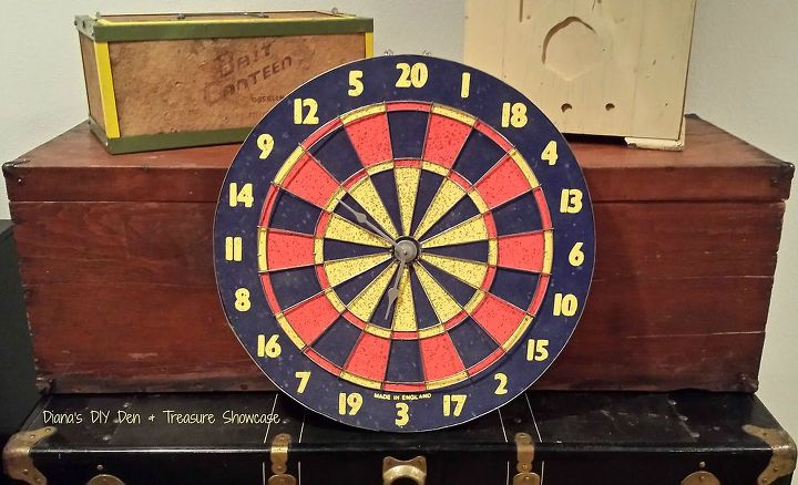 repurposed dart board clock, crafts, how to, repurposing upcycling