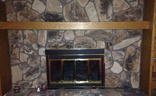Whitewash Your Stone Fireplace For Under 20 Hometalk