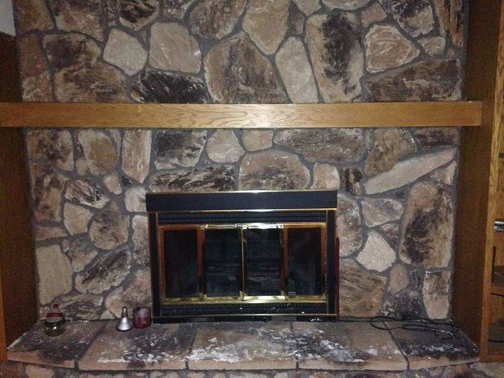 q help need fireplace updated ideas please, basement ideas, fireplaces mantels, home improvement, Very grainy need ideas to make it pop in the basement