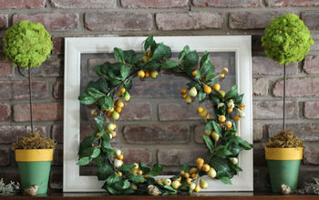 sunny green and yellow spring mantel, fireplaces mantels, seasonal holiday decor, wreaths