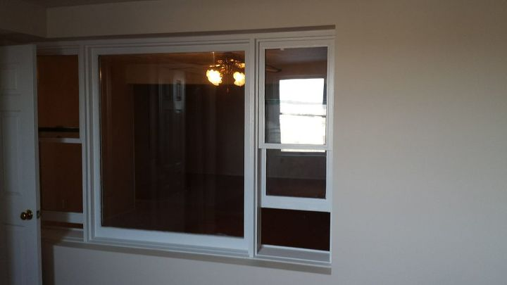 q window in between room, basement ideas, home improvement, windows, This is the view from in the bedroom looking into the basement family room